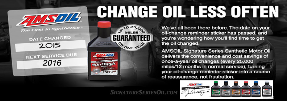 New amsoil oe api certified synthetic motor oil for Synthetic motor oil change